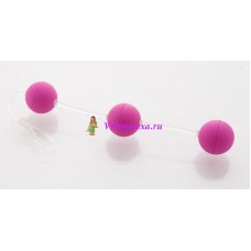 Анальные шарики 19,5см фиолет.