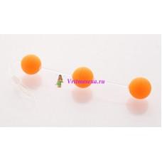 Анальные шарики 19,5см оранжевый