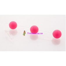 Анальные шарики 19,5см розовые