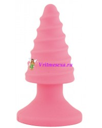 Анальный массажер-втулка розовая