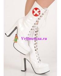 Сапоги белые медсестра/Белые/Розовые