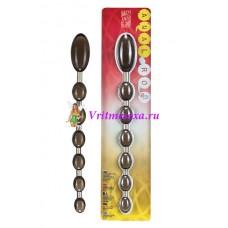 Цепочка-шарики анальные черные 27,4 см