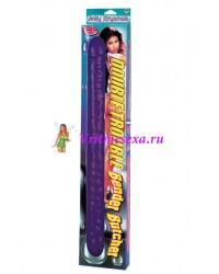 Фаллос дабл гель фиолетовый 45,7см