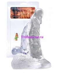 Фаллос прозрачный желе 15,2см
