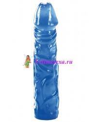 Фаллос желе синий 20,2см