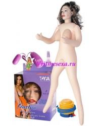 Кукла Настя(насос+ виброяйцо+ смазка+ вагина