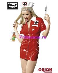 L-Костюм медсестры  красный