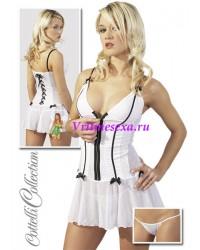 L-Платье+стринги  белое