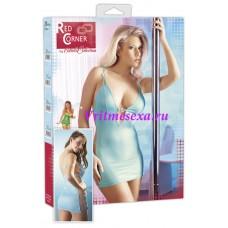 L-Платье  голубое