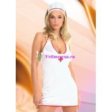 M/L-Костюм медсестры белый