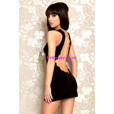 M-Платье с открытой спиной черное