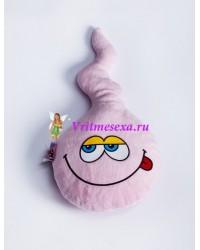 Мягкая игрушка спермик (розовый)