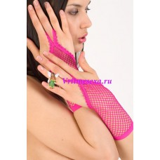 Перчатки аксессуарные сетка /розовые/
