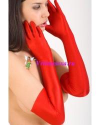 Перчатки длинные /красные/белые