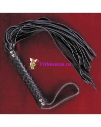 Плетка из нат.кожи черная 42см 30 хвостов