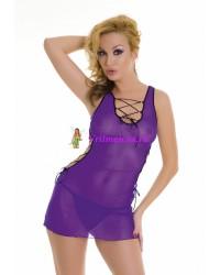 S/L-Мини-платье и стринги фиолетовые