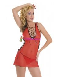S/L-Мини-платье и стринги красные