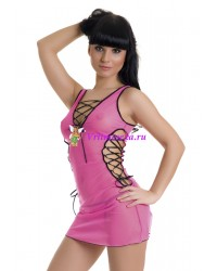 S/L-Мини-платье и стринги розовые