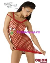 S/L-Мини-платье красное
