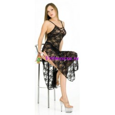S/L-Платье-сетка черное*