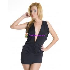 S/L-Платье черное/синее