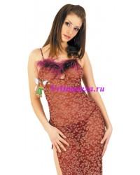 S/L-Платье+стринги бордовое