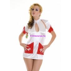 S/L-Платье медсестры белое
