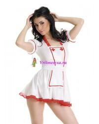 S/L-Платье медсестры и фартук белые