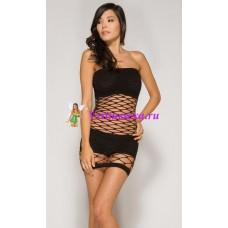 S/L-Платье+топ+шорты.черн/роз