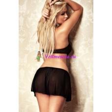 S/M-Топ и юбка черн.