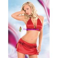 S/M-Топ+юбочка красные