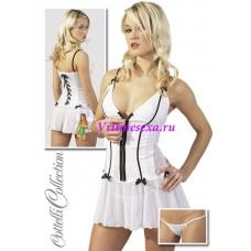 S-Платье+стринги  белое