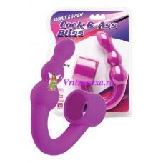 Шарики-цепочка анал. 3,3 см фиолет.силикон