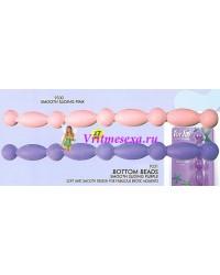 Шарики резиновые цепочкой фиолетовые