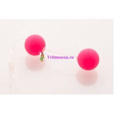 Шарики вагинальные 11см розовые