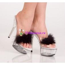 Туфли белые/черные