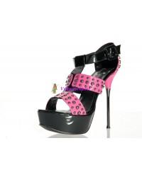 Туфли бело-черные/Туфли черно-розовые