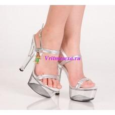 Туфли серебристые 39р.