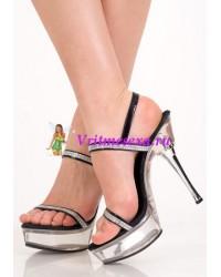 Туфли черные с украшен