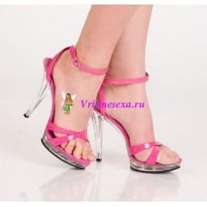 Туфли черные/розовые