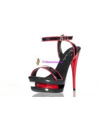 Туфли черно-красные