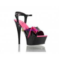 Туфли черно-розовые