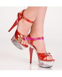Туфли красные/серебристые/золотистые