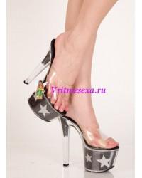 Туфли прозрачные/Красные