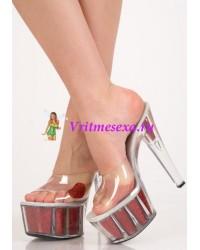 Туфли/прозрачные/прозр.с красным сердечком