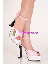 Туфли Розовый/черный