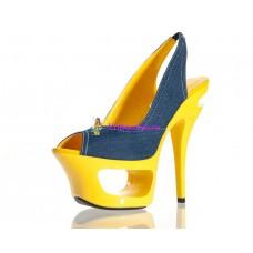 Туфли желто-синие