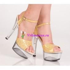 Туфли золотистые 39р.