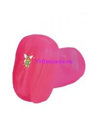 Вагина гелевая розовая 17,8см