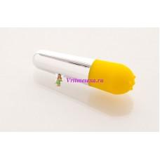 Вибратор 10см желтый